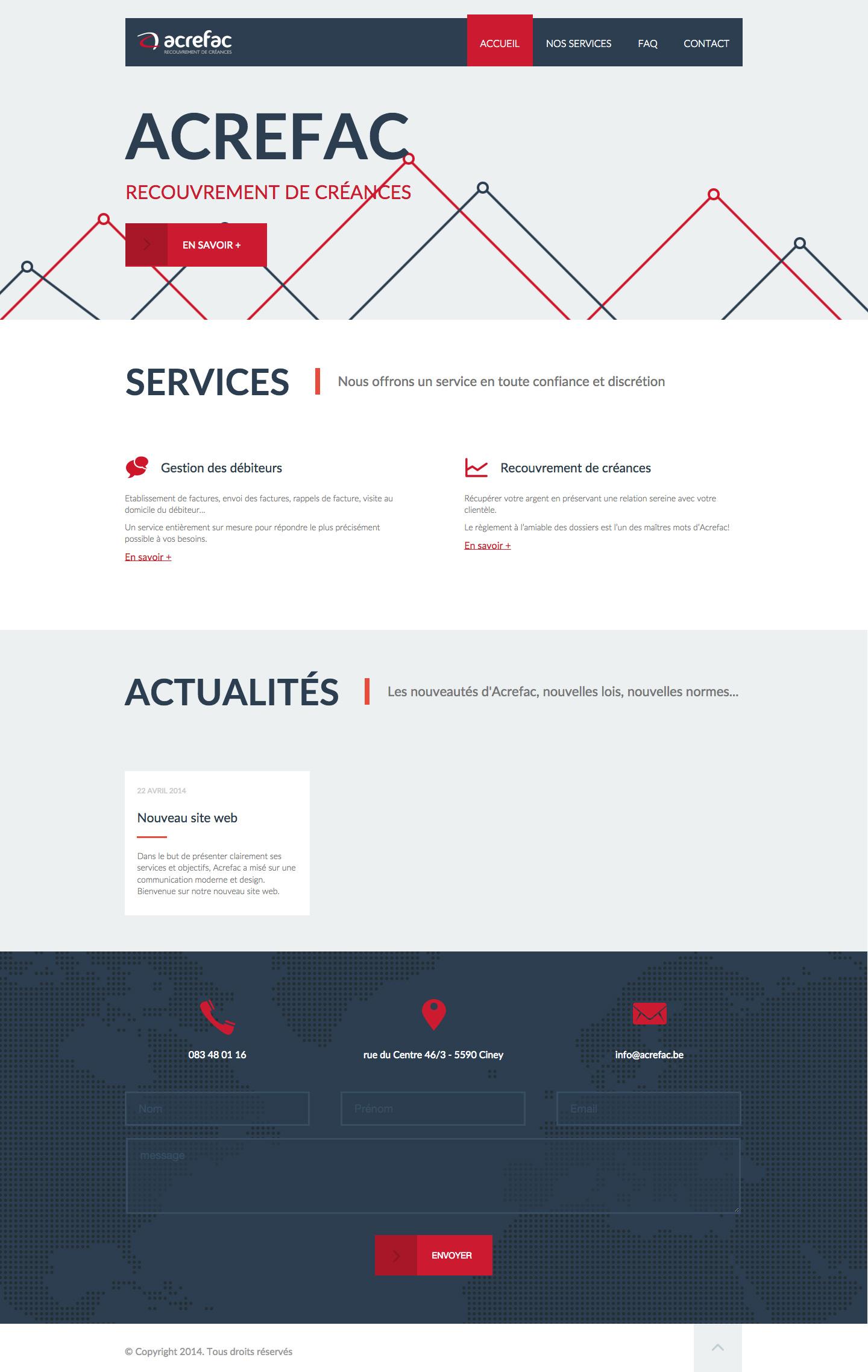 Acrefac - Page d'accueil