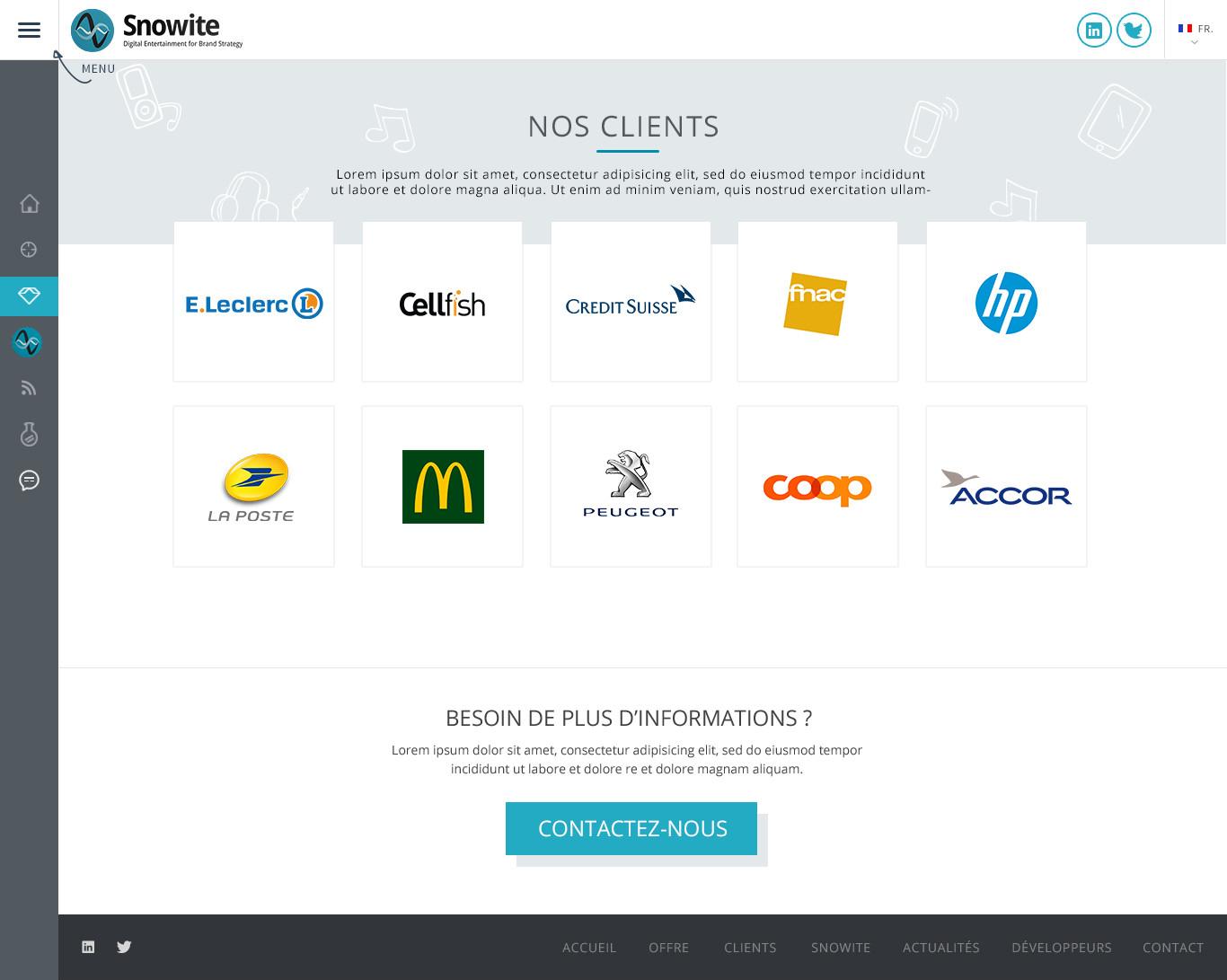 Page clients Snowite