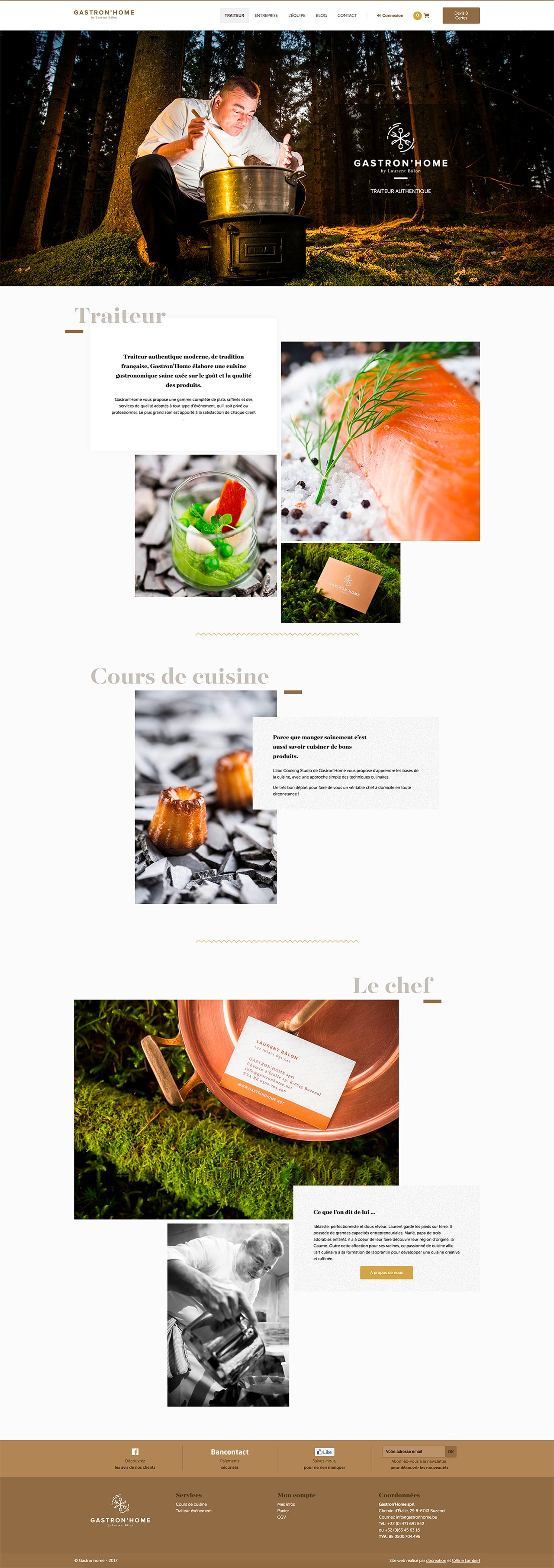 Homepage gastronhome.be