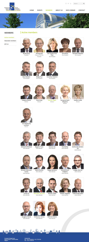 Page members du site du Forum européen de l'énergie
